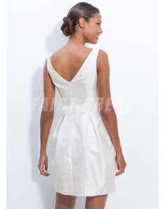 Ma Provence Robe de mariée courte col bateau jupe ballon noeud papillon en taffetas