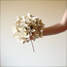 Paper flower bouquet Book origami bouquet by MarmotaCafeWeddings, $75.00