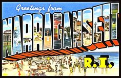 Greetings From Narragansett Rhode Island -  We have over 100 vintage postcards that can be printed as posters, notecards, T-Shirts, tote bags, pillows, cell phone covers, beach towels and a lot more really fun and exciting products! Check them all out, collect them all! Visit FASGallery.com
