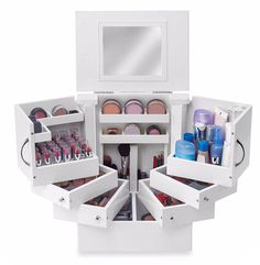 Amazon.com: New Wooden Cosmetic Beauty Make Up Case Storage Box ,Organizer For Set: Home & Kitchen #aff
