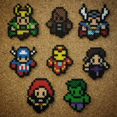 Avengers - Marvel perler beads by halemark.handcrafts