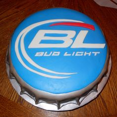 budlight bottle cap cake | Carlas Cakes: Bud Light Bottlecap