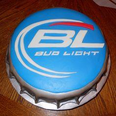 budlight bottle cap cake | Carlas Cakes: Bud Light Bottlecap