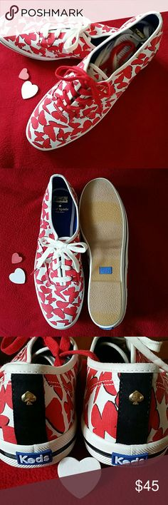 Spotted while shopping on Poshmark: Kate Spade Keds Butterfly Sneakers Red White 10! #poshmark #fashion #shopping #style #kate spade #Shoes