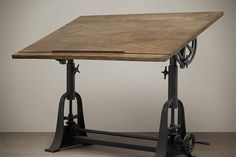 Restoration Hardware 1910 American Trestle Drafting Table