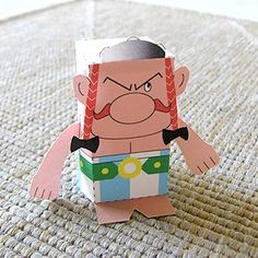Toy-A-Day: Day Obelix, paper toy Birthday Party Snacks, Birthday Box, Birthday Crafts, Happy Birthday, Birthday Gift Baskets, Birthday Gifts For Sister, Asterix E Obelix, Viking Party, Birthday Present For Boyfriend