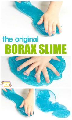 Want the best borax slime recipe? Look no further than this easy slime recipe that doubles as a chemistry experiment! Kids will love this classic slime! #stemactivities #stem #slime #slimerecipe