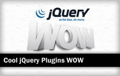 This post roundup amazing and cool jQuery plugins! Not only they can produce awesome effects for our site, but also make your user feel WOW!