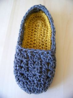 Crochet Slippers Cherub in Smoke Choose your by SalemWolfDesigns