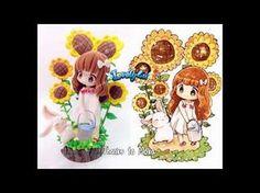 Lovely4u | VO6 | Sunflower Girl | DIY| Clay Figure Tutorial | mokarooru oc fan art - YouTube