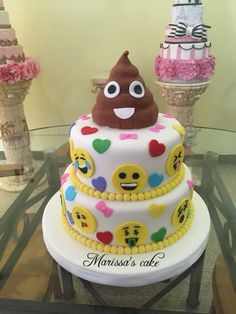 Emojis Birthday Cake Visit Us Facebook Marissascake Or