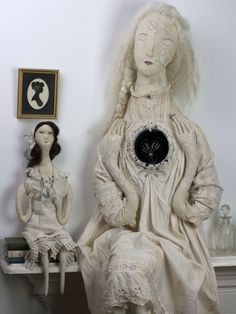 textile art dolls by Pantovola, made of antique fabrics #artdolls #antique #art #textiles #textiledoll