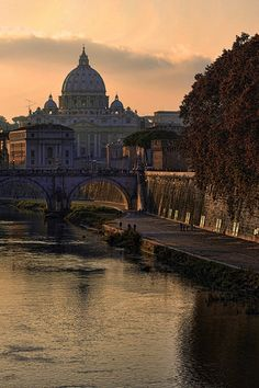 Rome at sunset, Italy...Blessed City!➰