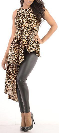 Favorite Part (Leopard) long animal print shirt