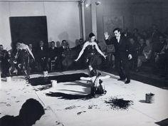 Yves Klein, Action Spectacle, 9 March 1960. Comte d'Arquian's salon 253 rue Sainte-Honoré, Paris.