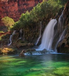 Navajo Falls Havasu Canyon by Steve Sieren Photography, via Flickr