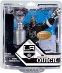Name: Jonathan Quick Goalie LA Kings Manufacturer: McFarlane Toys Series: NHL Sportspicks Exclusive Release Date: December 2012 For ages: 4 and up UPC: 787926771695 Details (Description): This McFarlane Collector Club exclusive features Jonathan Quick of the 2012 Stanley Cup Champions Los Angeles Kings and the Stanley Cup.