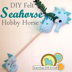 DIY Seahorse hobby horse FREE pattern & tutorial