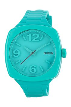 NIXON watch // love the color! #aqua #blue #turquoise