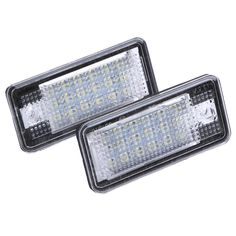 2PCS 13.5V 18 LED Car LED License Number Plate Light Lamp Error Free OBD Lighting for Audi A3 A4 A6 A8 B6 B7 S3 Q7 RS4 RS6