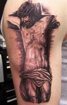 Crucifix Tattoo Designs For Men: The Religious Crucifix Tattoo Designs And Meaning For Men On Sleeve ~ tattooeve.com Tattoo Design Inspiration