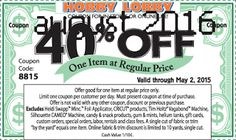 Hobby Lobby coupons & Hobby Lobby promo code inside The Coupons App. off a single item at Hobby Lobby, or online via promo code 9659 April Art Craft Store, Craft Stores, Free Printable Coupons, Free Printables, Free Coupons, Hobby Lobby Coupon Code, Promotion, Store Coupons, Retail Coupons