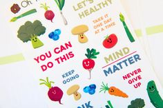 Get Healthy Vegetables Decorative Set - M5 - Oh, Hello Stationery Co.   - 1