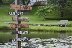 Rustic wedding signage.