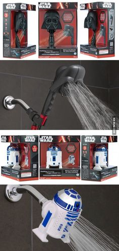 Oxygenics Lets You Shower With Darth Vader and R2-D2 - 9GAG