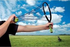 HyperDog Tennis Dog - A fun way to play fetch: for humans and dogs! - Found on ActiveDogToys.com
