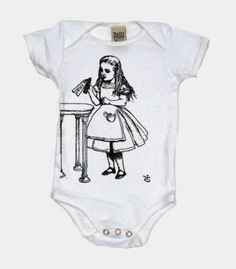 Goth Shopaholic: Alice in Wonderland Themed Onesies for Goth Babies