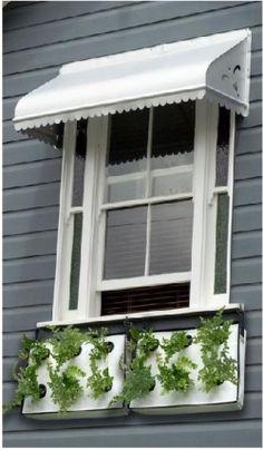 modern window boxes...