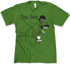 The Tea Rex Funny Graphic dinosaur T-Shirt