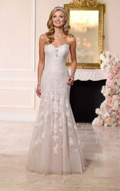 New at Uptown Bridal! Uptown Bridal & Boutique www.uptownbrides.com 6257 Lace Appliques Wedding Dress by Stella York