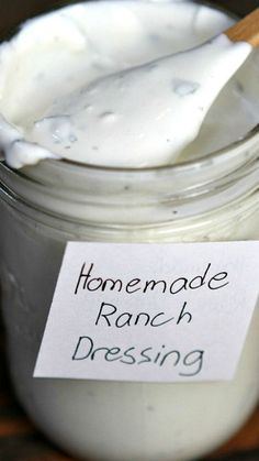Homemade Ranch Dressing ~ SOOOOOO much better than the store-bought stuff.