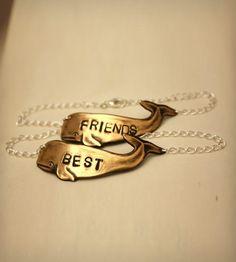 Brass Whale Best Friends Bracelet - Set of 2