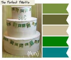 {Creative Color Idea}: Vintage Stamp Bunting  http://www.theperfectpalette.com/2012/04/creative-color-idea-vintage-stamp.html