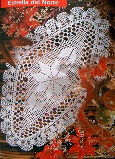 Crochet y Dos agujas: Carpeta tejida con ganchillo con patrones y explic...