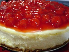 Classic New York Cheesecake from Food.com: I made this for our family christmas party and everyone loved it! Since it is a plain cheesecake I put cherry pie filling, strawberry pie filling and caramel sauce to the side in different bowls so they could put on top whatever they wanted or you can put on top whatever you prefer. It's even good just plain! I got this recipe out of a Philadelphia cook book. If you love cheesecake you will love this!