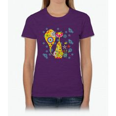 A Cat And A Little Bee Bee Movie Womens T-Shirt
