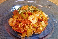 Jambalaya, kreolische Küche