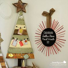 Great pallet idea for Christmas cards or advent.