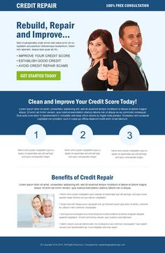 Landing Page Design Examples Credit Repair Secrets Exposed