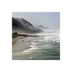 Oregon Coast-CoastalLiving.com ❤ liked on Polyvore featuring backgrounds, beach, pictures, photos and places