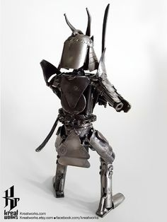 Mini Recycle Metal Samurai small item by Kreatworks on Etsy