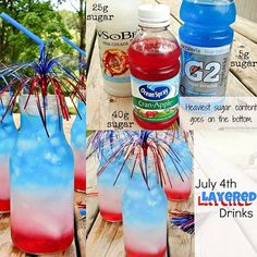 Make a layered drink. | The Ultimate Summer Bucket List For Bored Kids--This looks delicious!