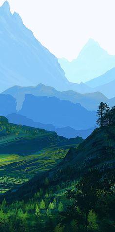 The art of animation, gianna kaye - art of animation, landscape Landscape Concept, Fantasy Landscape, Landscape Art, Landscape Paintings, Scenery Wallpaper, Landscape Wallpaper, Wallpaper Backgrounds, Iphone Wallpaper, Japon Illustration
