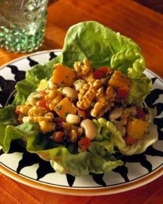 Black-Eyed Peas & Walnut Lettuce Wraps