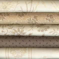 French General for Moda. Neutral Colors - Fat Quarters
