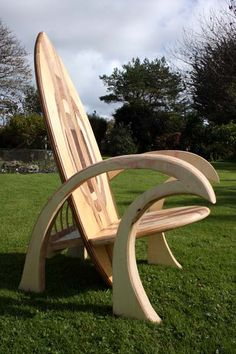 Wooden Surfboard Chair